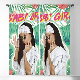 aaliyah the baby girl Blackout Curtain