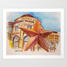 The Bullock Texas State History Museum Watercolor Art Print