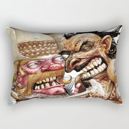 cowboy and native american Rectangular Pillow