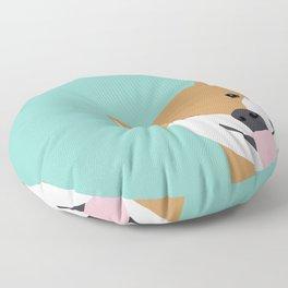 Shiba Inu Peek - cute shiba doge peeking funny dog art print mint turquoise customizable dog gift Floor Pillow