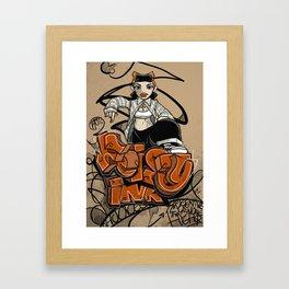Feisty Ink. Framed Art Print