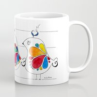 folk Mugs featuring folk by Gosia&Helena