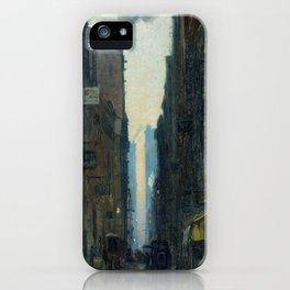 New York Street Scene - Ernest Lawson iPhone Case