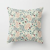 flora Throw Pillows featuring Flora by Anna Deegan