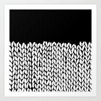 knit Art Prints featuring Half Knit by Project M