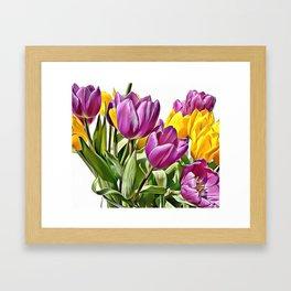Colourful Tulips Airbrush Artwork Framed Art Print