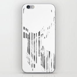 Geometric black Stag iPhone Skin