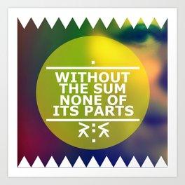 Sum and Parts Art Print