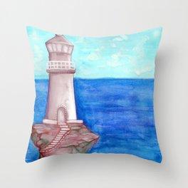 Sheri's Lighthouse Throw Pillow