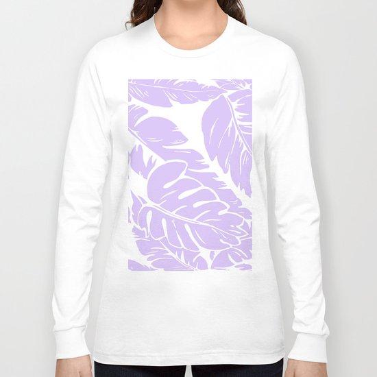 PALM LEAF LILAC Long Sleeve T-shirt
