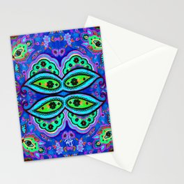 Crazy Paisley BLUE Stationery Cards