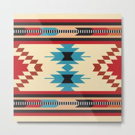 American Native Pattern No. 37 Metal Print