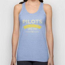 Pilot Proud Aviation Lover Gift Idea Unisex Tank Top