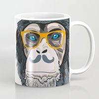 monkey island Mugs featuring Monkey! by  Steve Wade ( Swade)