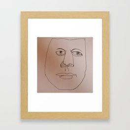 Weird man 2 Framed Art Print