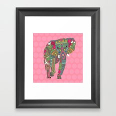 painted elephant pink spot Framed Art Print