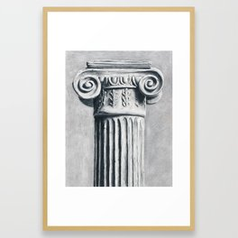 Ionic Column Framed Art Print