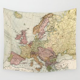 Atlas Map of Europe (1912) Wall Tapestry