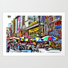 Korean Rain (Painted Version) Art Print