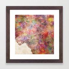 Athens map Framed Art Print