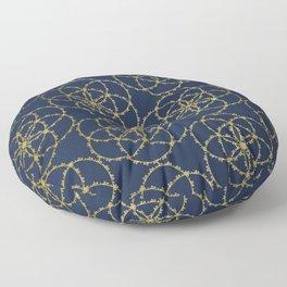 Metallic gold seed of life pattern Floor Pillow