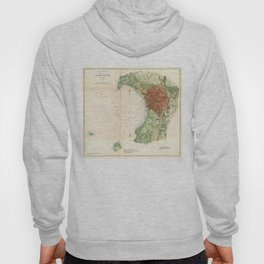 Vintage Map of Burlington Vermont (1872) Hoody