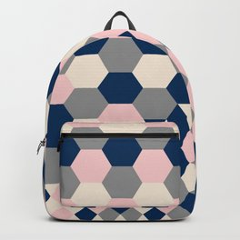Honeycomb Blush and Grey Backpack