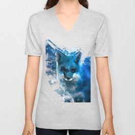 Arctic Fox #fox Unisex V-Neck