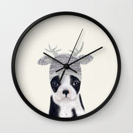little boston ohh deer Wall Clock