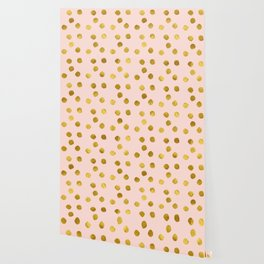 Pink Gold Foil 09 Wallpaper