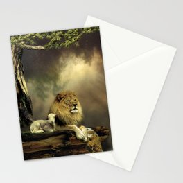 The Lion & the Lamb Stationery Cards