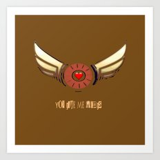 You Give Me Wings Art Print