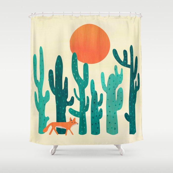 Desert Fox Shower Curtain