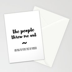 The people Stationery Cards