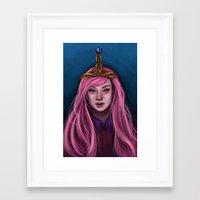 princess bubblegum Framed Art Prints featuring Princess Bubblegum by Rat Girl Studios