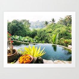 Bali infinity pool Art Print