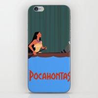 pocahontas iPhone & iPod Skins featuring Pocahontas by TheWonderlander