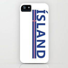 Island Sports Fan Athletic Iceland Design iPhone Case