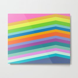 Retro Stripes 77 Metal Print