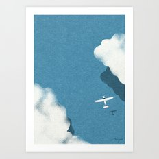Over the sea Art Print