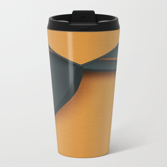 Modern Tsuru Metal Travel Mug