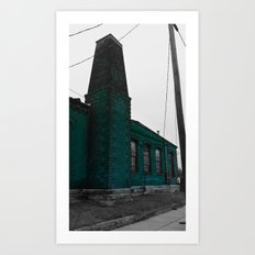 Building With Altered Color Art Print