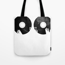 Vinyl Geek Don't Touch My Records Tote Bag