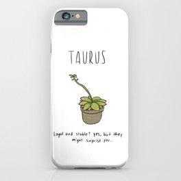 Taurus Houseplant Horoscope iPhone Case
