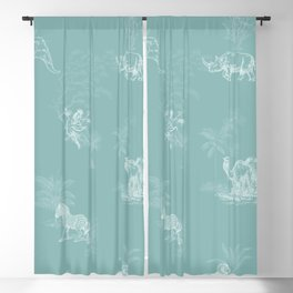 Zoology: Teal Blackout Curtain