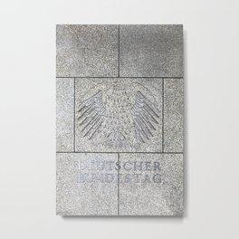 German Eagle at Bundestag Berlin Metal Print
