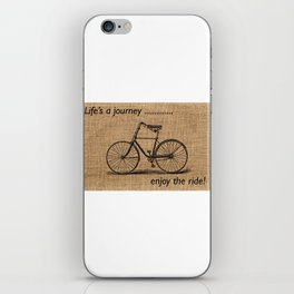 Life's A Journey Quote iPhone Skin