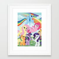 my little pony Framed Art Prints featuring My Little pony by Paul Abstruse