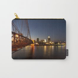 Cincinnati at Night on the Ohio River Carry-All Pouch