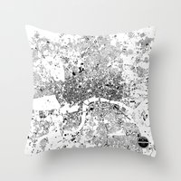 london map Throw Pillows featuring LONDON MAP by Maps Factory